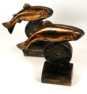 Trout Unlimited Bookends